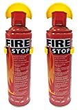 #4: Decode Fire stop sprey Fire Extinguisher with stand for cars , Home and Offices {500ml} set of 2 pc