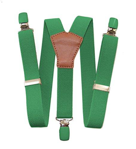 bretelle lisse avec croisement en cuir Vert