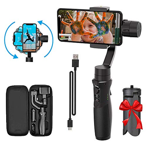 Hohem 2019 Smartphone Gimbal Stabilizer 3-Achsen Handheld Gimble mit Face Object Auto Tracking für iPhone Xs Max Xr X 8 Plus 7 6 Neueste Handy Plus Isteady Gimbal für Android Phone