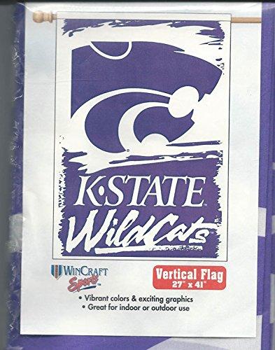 Kansas State University KSU Wildkatzen für Außenbereich, 68,6 x 104 cm, Violett/Weiß Kansas University