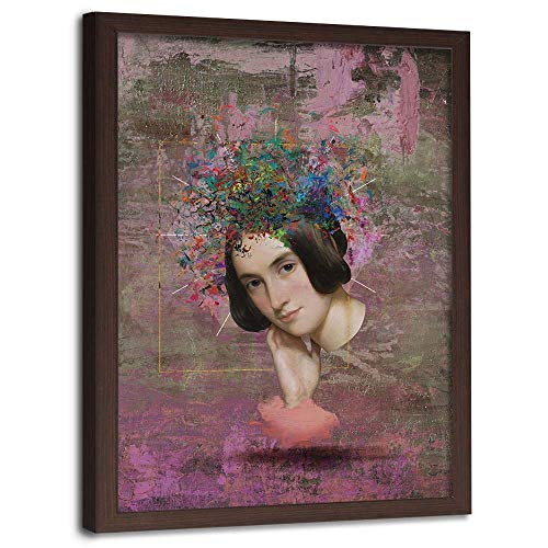 carowall CAROWALL.COM Bild mit Rahmen braun Porträt Moderne Dekoration Mehrfarbig 70x100 cm - Grant Holz-künstler