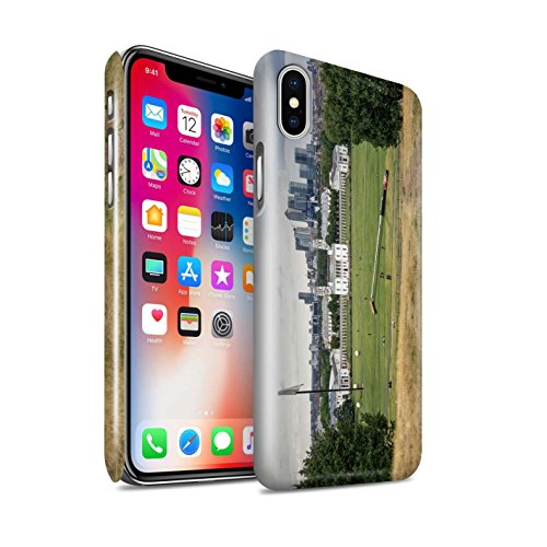STUFF4 Glanz Snap-On Hülle / Case für Apple iPhone X/10 / Ersten Gang Muster / Vorstellen Kollektion Park Setzen
