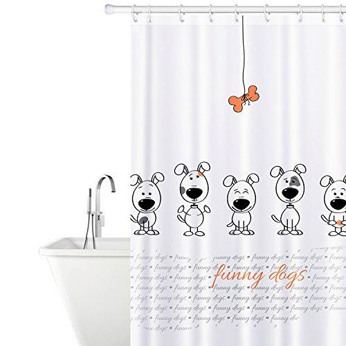 Tatkraft Funny Dogs Cortina Baño Tela 180X180 cm...