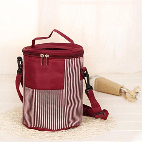 MOXIN Pacchetto di isolamento - Portable Circolare Pranzo Refrigerato Addensato , medium: pretty powder (ice pack) size: red wine (ice pack)