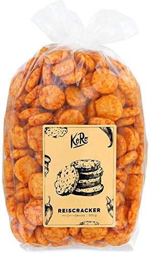 KoRo - Reiscracker Mit Chili Gewürz 500 g - Würziger Chili Snack Auf Reisbasis als Knabberspaß in Vorteilspack