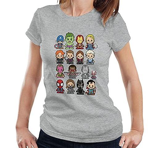 Lil Marvel Comic Universe Women's T-Shirt