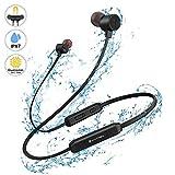 Bluetooth V5.0 Kopfhörer In-Ear YATWIN - Kabellose Magnetische und Nackenbügel Sportkopfhörer Kräftiger Bass, IPX7 Wasserdicht/In Ear Ohrhörer Mikrofon mit 9 Stunden Spielzeit für Joggen/Laufen