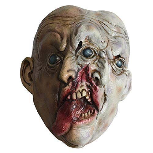TcooLPE Walking Dead Vollkopf Maske, Resident Evil Monster Maske, Zombie Kostüm Party Latex Maske for HalloweenDecaying Zombie Halloween Mit Maske for Halloween - Zombie Künstler Kostüm