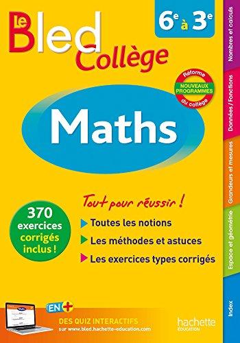 Bled Maths Collège - Nouveau programme 2016