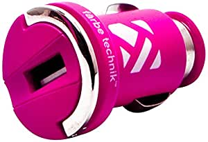 Farbe Technik 10-Watt 2.1 Amp USB Car Charger - Retail Packaging - Pink
