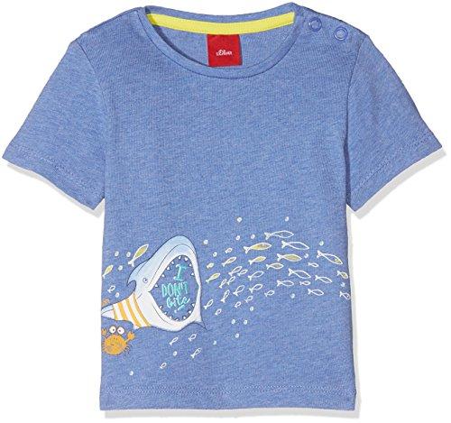 s.Oliver Baby-Jungen T-Shirt 65.805.32.5180, Blau (Blue Melange 55w9), 92