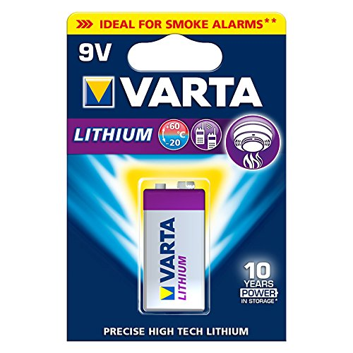 10er Set Batterie Lithium 9-Volt Block Varta (6122) - Professional Lithium