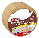 Tesa Emballer Adhésif de Fermeture PVC Extra Fort Transparent 40m x 50mm