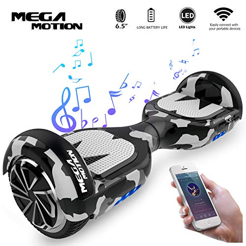 "Mega Motion Hoverboard Elektro Scooter E1-6,5"" Segway - Bluetooth - EU Sicherheitstandard (Army Green)"