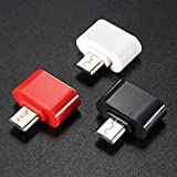 FLYCONN 3pcs OTG Adapter,Compatible With Mobiles And Tablets To Attach Pen Drive,Card Reader,Mouse & Keyboard,(Color can vary))