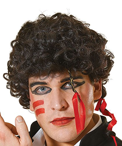 Ant Kostüm Adam Kostüme (Herren Fancy Kleid Party Adam Ant Stil 80der Video Super Star Kostüm & Perücke UK Gr. Einheitsgröße, Mens)
