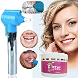 SHOPPOWORLD Tooth Polisher Whitener Stain Remover with LED Light and Glitter Prophylaxis Paste