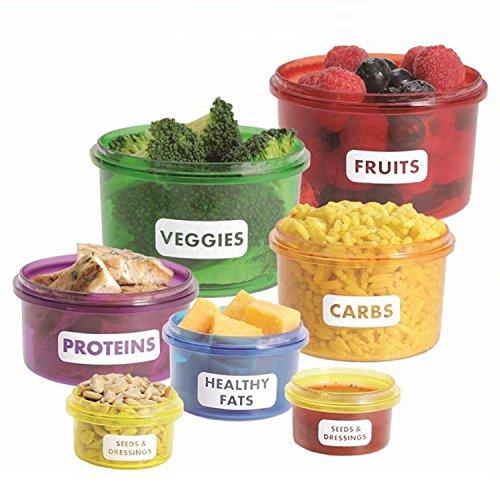 Star ssto 7pcs Brotdosen Savers Frischhaltedosen für Mahlzeiten Ernährung bunten Kit für Gewicht Verlust Teil Control Container Kit