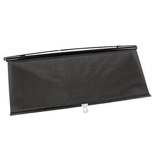 Sourcing map 58cmx125cm Negro Parasol Enrollable Cortinilla