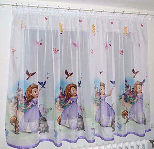 Disney Voile Netz Vorhang Prinzessin Sofia Breite 150cm/149,9cm X 160cm/160cm (Disney Prinzessin-clip)