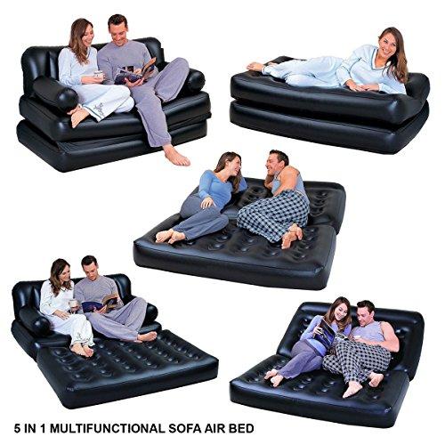 Hinchable multifunción 5en 1. Doble cama de aire, sofá, silla, sofá cama,...