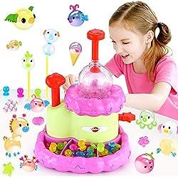 VATOS Jouets de Filles âge 3 4 5 6 7 8 9 ans, Blle Collante Assembler le Jeu, Kits Créatifs de Bricolage pour Enfants, Cadeau de Fête drôle pour Les Filles et Les Garçons(machine à ballons)