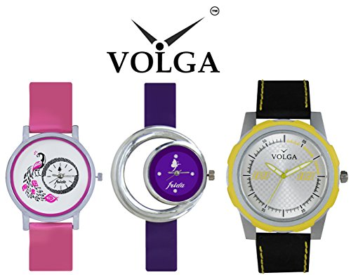 Volga Designer Watch For Men and Frida Fancy Multicolor Watch For Women at Best Price Offer.