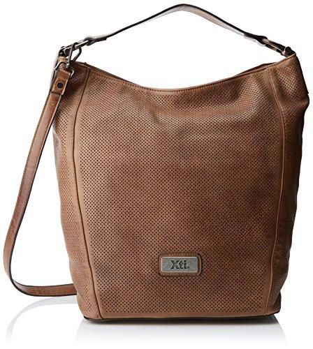 XTI Damen 85928 Shopper, Braun (Taupe), 36x36x19 centimeters