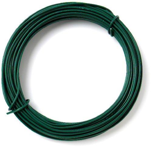 Bulk Hardware - Filo di ferro con rivestimento in plastica per giardino, 2 mm x 15 m, colore: Verde