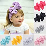 Skudgear Baby Headbands Turban Knotted for Young Girls Below 12 Years (Stretchable) Pack of 8