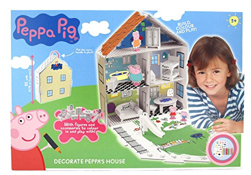Peppa Pig 360129 - Casa para decorar con accesorios, multicolor
