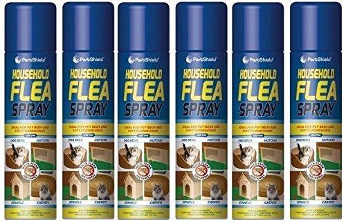 6 PACK - 200ml Flea Spray / Home Animal Cats Dogs Kills Fleas Tick Protection - By PAJEE TM 1