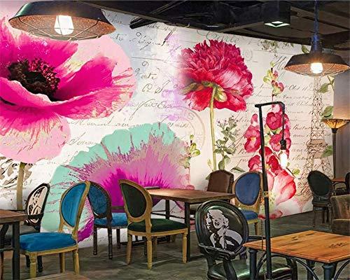Beibehang Benutzerdefinierte Tapete Paris Tower Blume Wand ästhetische Kunst Nordic minimalistischen TV Hintergrund Wanddekoration 3d Tapete