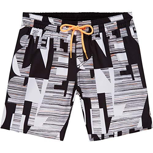 9dadd6d152 O'Neill Kid's Pb Strike Out Board Shorts, Black AOP with White, ...