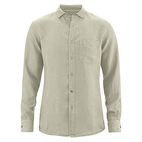 HempAge Herren Hemd langarm aus reinem Hanf Hanf XL (Hanf Herren Langarm)
