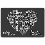 Geschenke 24: Fußmatte - Meine Stadt (Grau) mit Personalisierung - originelle Schmutzfangmatte - personalisierbarer Türvorleger für Geschenke 24: Fußmatte - Meine Stadt (Grau) mit Personalisierung - originelle Schmutzfangmatte - personalisierbarer Türvorleger