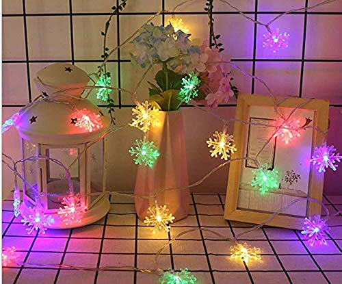 FFFFFFFFF Kleine Schneeflocke LED Laterne String Weihnachtsbeleuchtung Sternenfest Hochzeitszimmer Hintergrund dekorative Lichter 10m -
