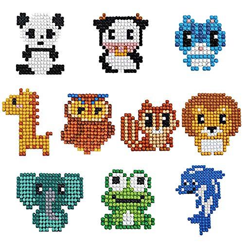 Diamant Malset für Kinder und Anfänger DIY Malen nach Zahlen handgefertigt Mosaik-Handy-Sticker Kunst und Handwerk (style1)