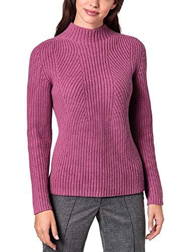 Walbusch Damen Cashmino Pullover Nahtlos in normalen Größen einfarbig Magnolie 44 -
