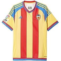 adidas Valencia Away JSY - Camiseta para hombre, color amarillo / rojo / azul, talla S