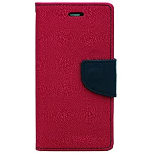 DNG Goospery Mercury Flip Wallet PU Leather Stand Case Cover for Sony Xperia C C2305 Pink