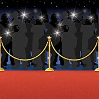 Fancy Dress VIP 50ft Hollywood Red Carpet Scene Setter at the Oscars Celebrity Paparazzi Premiere Party Decoration