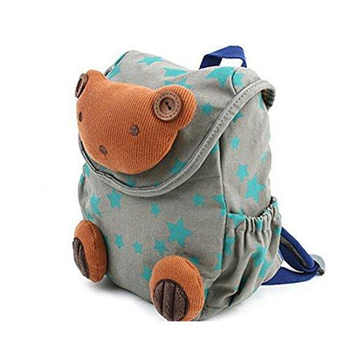 Babyrucksack Kindergartenrucksack Kindergartentasche Backpack Schultasche Kinder (grau)