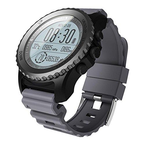Nuovo Smart Watch S968 IP68 Grado Impermeabile Frequenza Cardiaca Monitor GPS Altimetro Barometro Termometro Bluetooth Sport Watch modalità di Movimento Multiple con Android 4.3 e iOS 8.0 , gray DUWIN