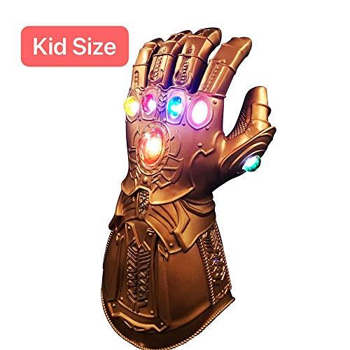 XIAO MO GU Thanos-Handschuhe, LED-Handschuhe für Cosplay, Halloween, Partys für Kinder, Latex