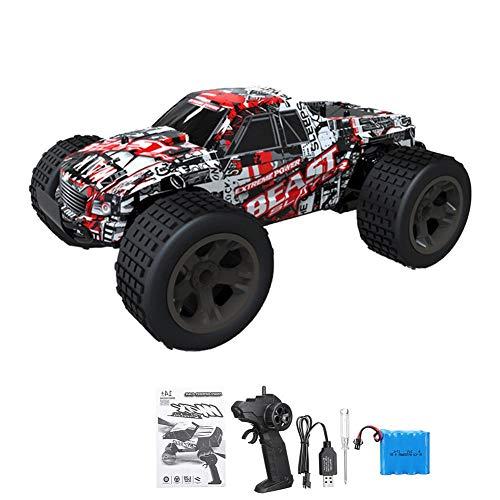 Hifuture RC Auto, 1: 20 4WD-Hochgeschwindigkeits-Off-Road-Ferngesteuertes Auto 30 km/h 2,4 GHz All-Terrain-Funkferngesteuerter Monster-Truck, 80M Fernbedienung Reichweite(rot)