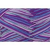 Gründl Wolle Cotton Quick print, Farbe:171 lila-flieder-blau-silber color