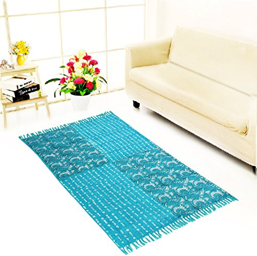 06 Läufer Teppich (JTH handgefertigt IndianTraditional Hand, Home dekorativen Coton Dhurrie Bereich Teppich (jth-jud-06))