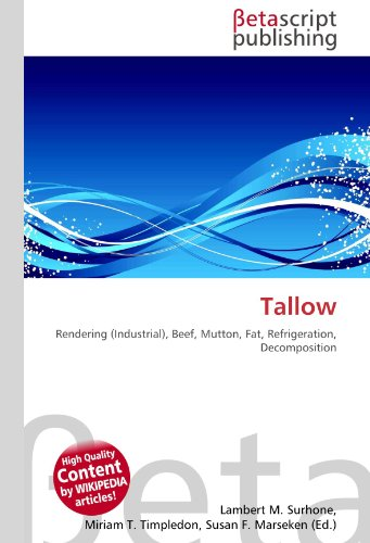 Tallow: Rendering (Industrial), Beef, Mutton, Fat, Refrigeration, Decomposition