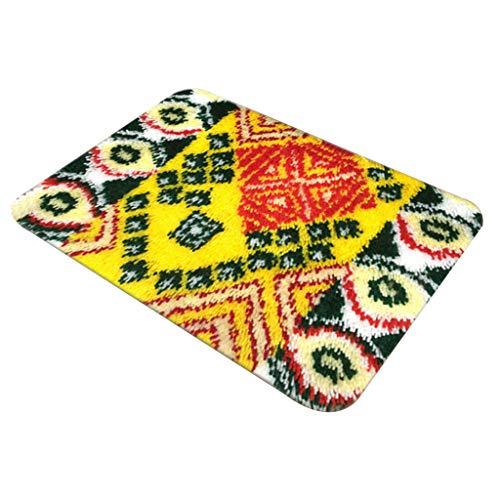 IPOTCH Knüpfteppich Knüpfset für DIY Handarbeit Teppich mit schöne Bilder 58x40 cm, Latch Hook Rug Kit - ZD1010
